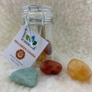 2. Kristallen set Heiligbeen chakra